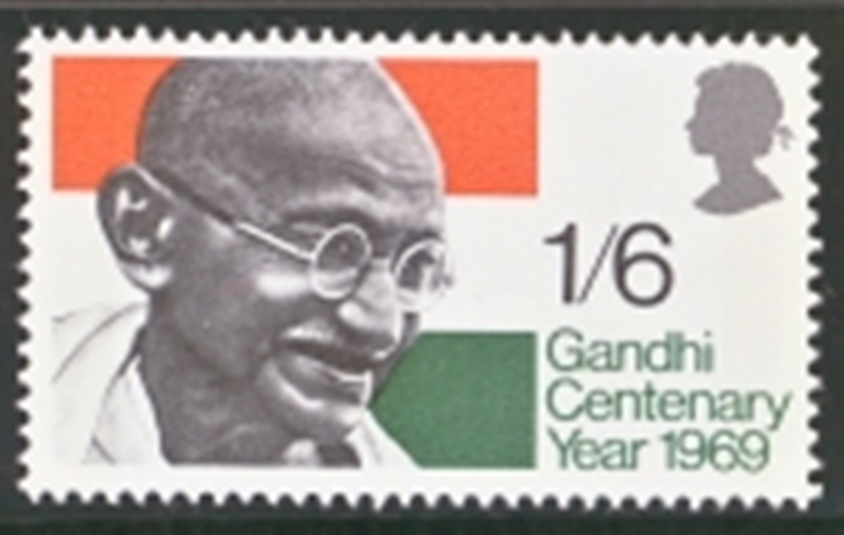 Great Britain Scott 0600-0600, MNH, 1969 Mahatma Gandhi and Flag