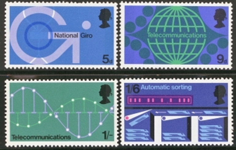 Great Britain Scott 0601-0604, MNH, 1969 Technology set of 4