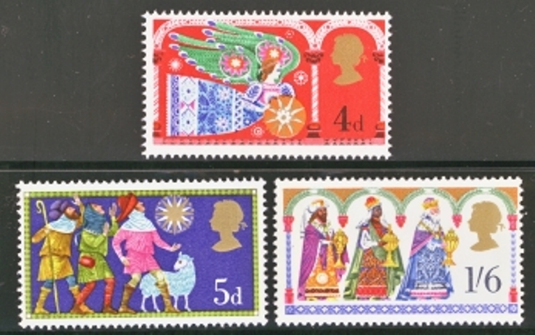 Great Britain Scott 0605-0607, MNH, 1969 Christmas, set of 3