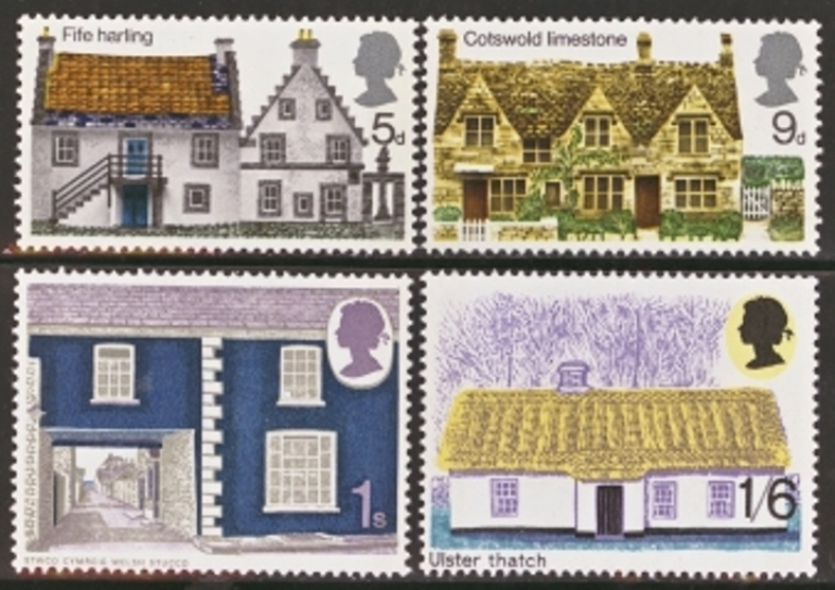 Great Britain Scott 0608-0611, MNH, 1970 Rural architecture, set