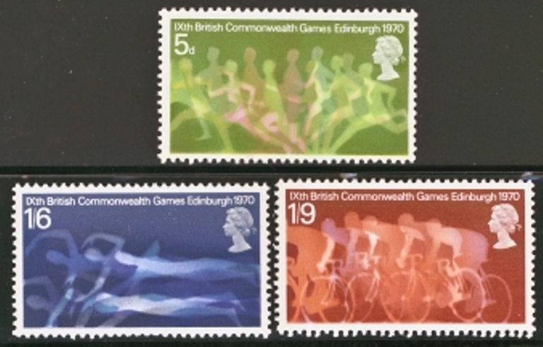 Great Britain Scott 0639-0641, MNH, 1970 Commonwealth Games, set
