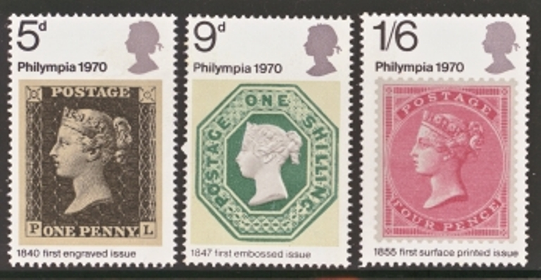 Great Britain Scott 0642-0644, MNH, 1970 Philatelic Exhibition,