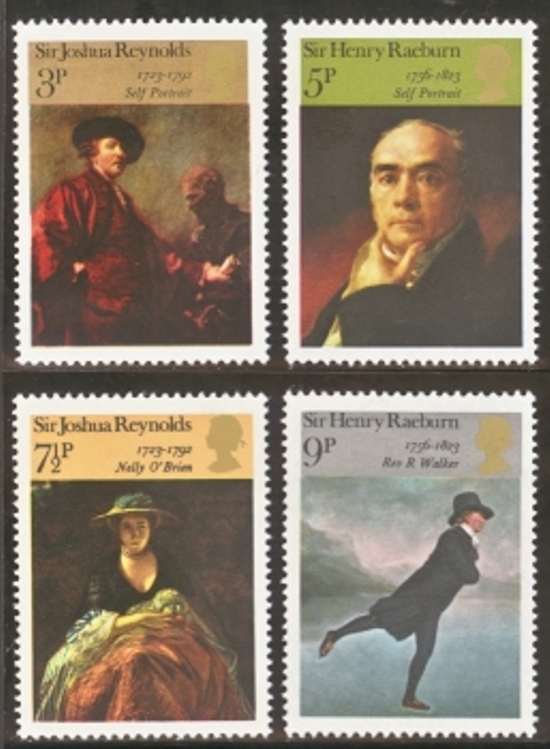 Great Britain Scott 0697-0700, MNH, 1973 Paintings, complete set
