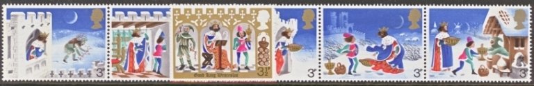 Great Britain Scott 0709-0714, MNH, 1973 Christmas, complete set