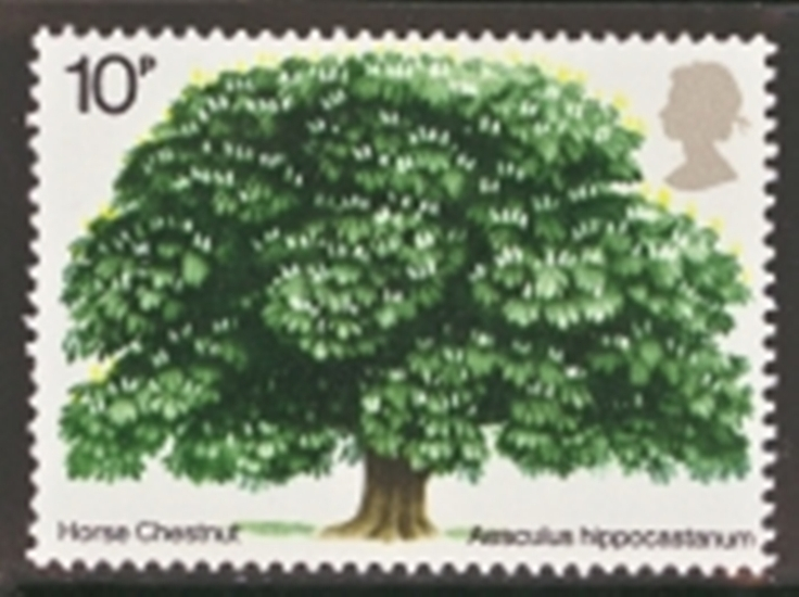 Great Britain Scott 0715-0715, MNH, 1974 Horse Chestnut tree