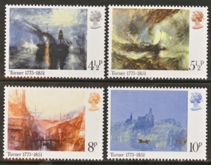 Great Britain Scott 0736-0739, MNH, 1975 paintings, set of 4