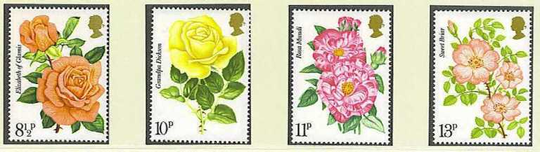 Great Britain Scott 0786-0789, MNH, 1976 Royal National Rose Soc
