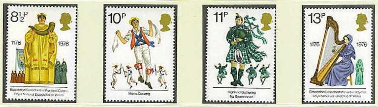 Great Britain Scott 0790-0793, MNH, 1976 Cultural Traditions, se