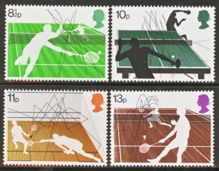 Great Britain Scott 0802-0805, MNH, 1977 Tennis, set of 4