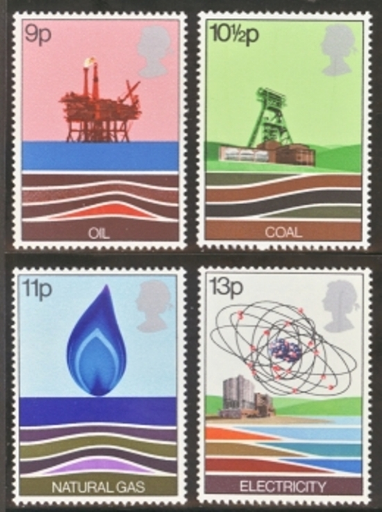 Great Britain Scott 0827-0830, MNH, 1978 Oil Production, set of