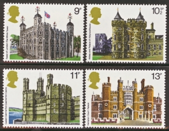 Great Britain Scott 0831-0834, MNH, 1978 Architecture, set of 4