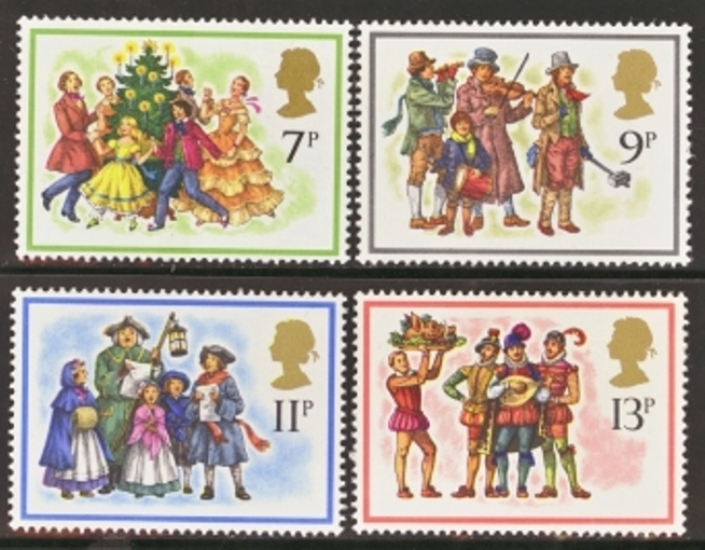 Great Britain Scott 0847-0850, MNH, 1978 Christmas, set of 4