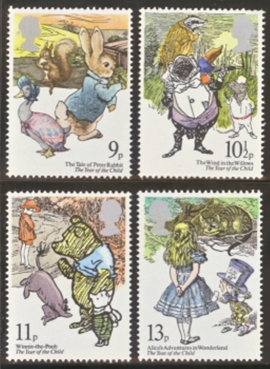Great Britain Scott 0867-0870, MNH, 1979 Peter Rabbit, complete