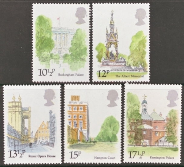 Great Britain Scott 0910-0914, MNH, 1980 Buckingham Palace, comp