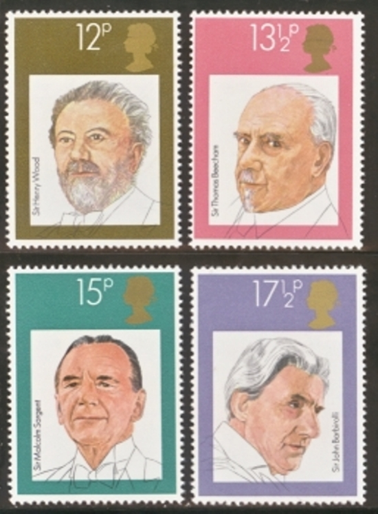Great Britain Scott 0920-0923, MNH, 1980 English Conductors, com