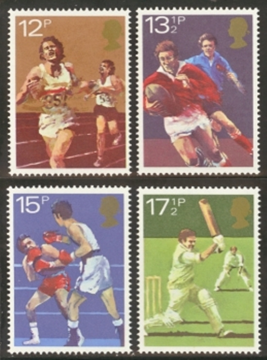 Great Britain Scott 0924-0927, MNH, 1980 Amateur Athletics, comp