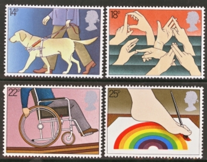 Great Britain Scott 0937-0940, MNH, 1981 Guide Dog, complete set