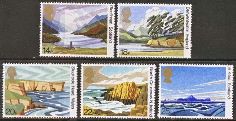 Great Britain Scott 0945-0949, MNH, 1981 Scotland paintings, com