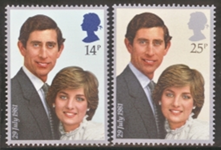 Great Britain Scott 0950-0951, MNH, 1981 Prince Charles and Lady