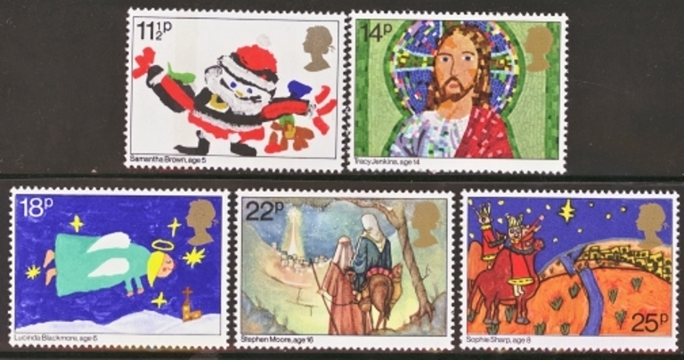 Great Britain Scott 0960-0964, MNH, 1981 Christmas complete set