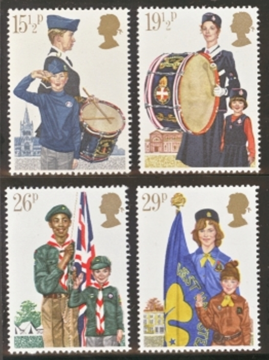 Great Britain Scott 0983-0985, MNH, 1982 Youth Organizations com