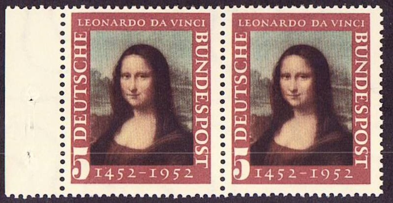 Germany Scott 0687, MNH, Pair, Mona Lisa