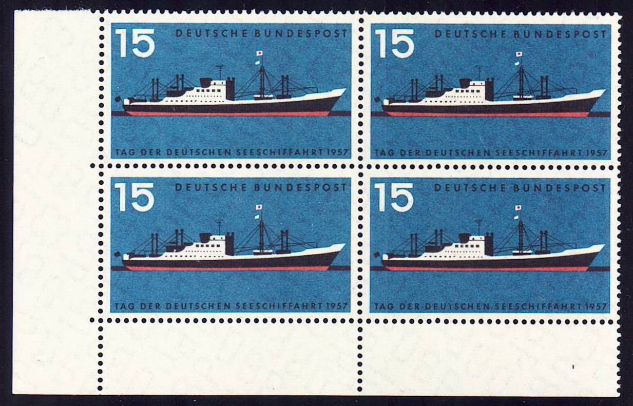 Germany Scott 0767, MNH, Block of 4, BL4, Modern Freighter