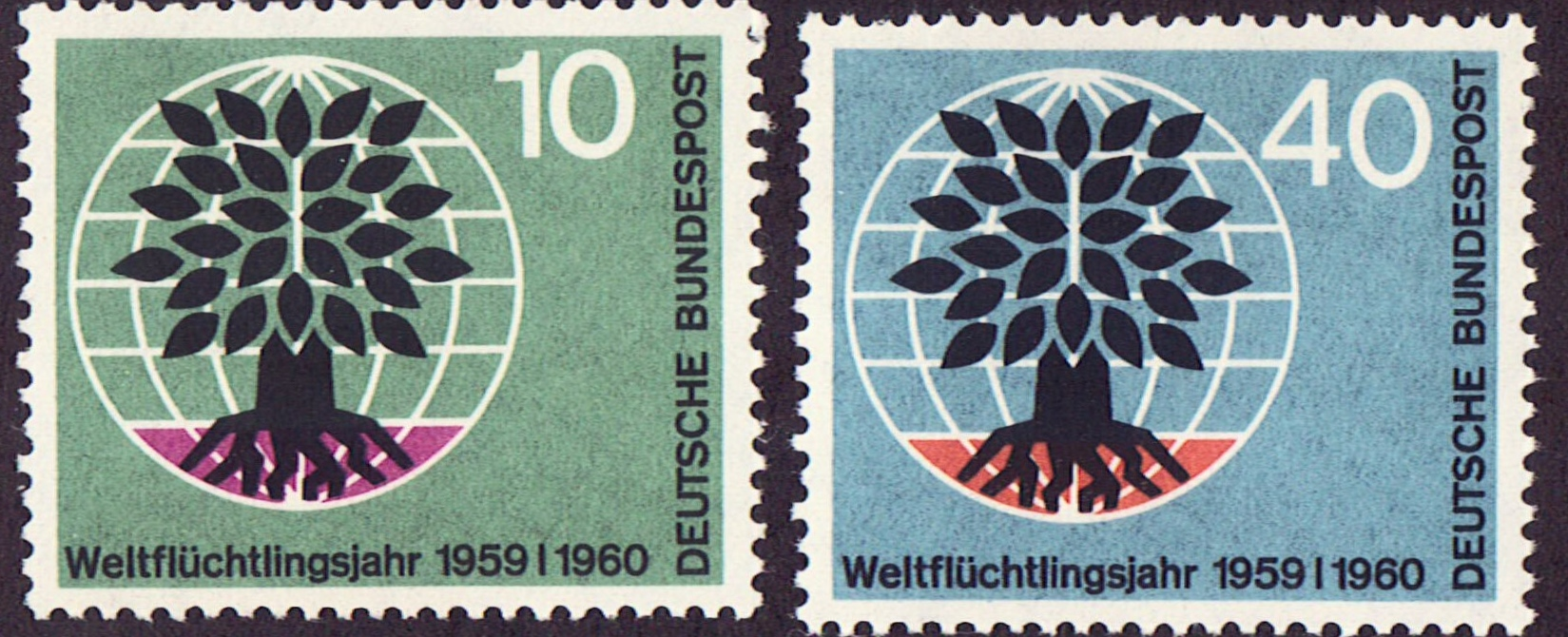 Germany Scott 0807-8, MNH, International Refugee Year, set of 2