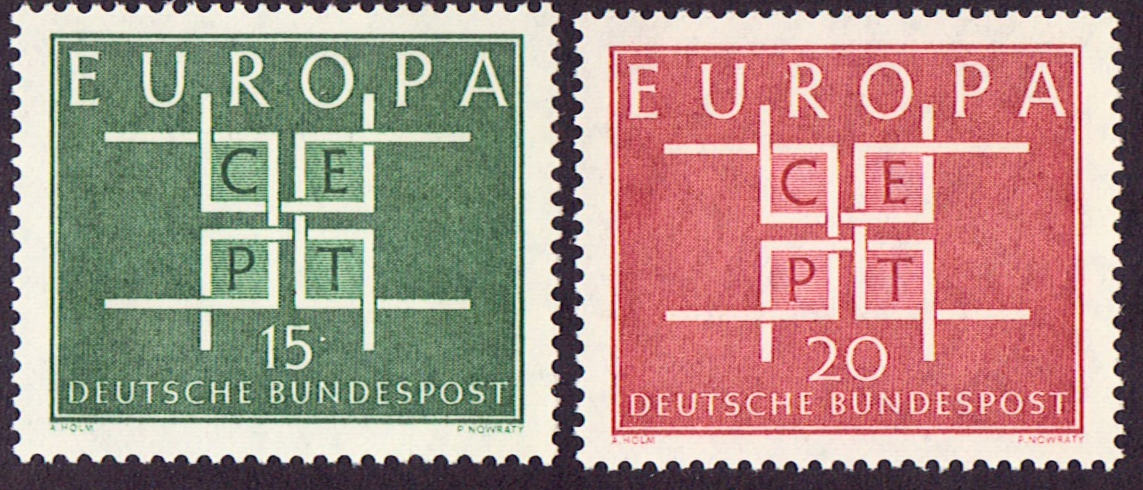 Germany Scott 0867-68, MNH, Europa 1963, set of 2