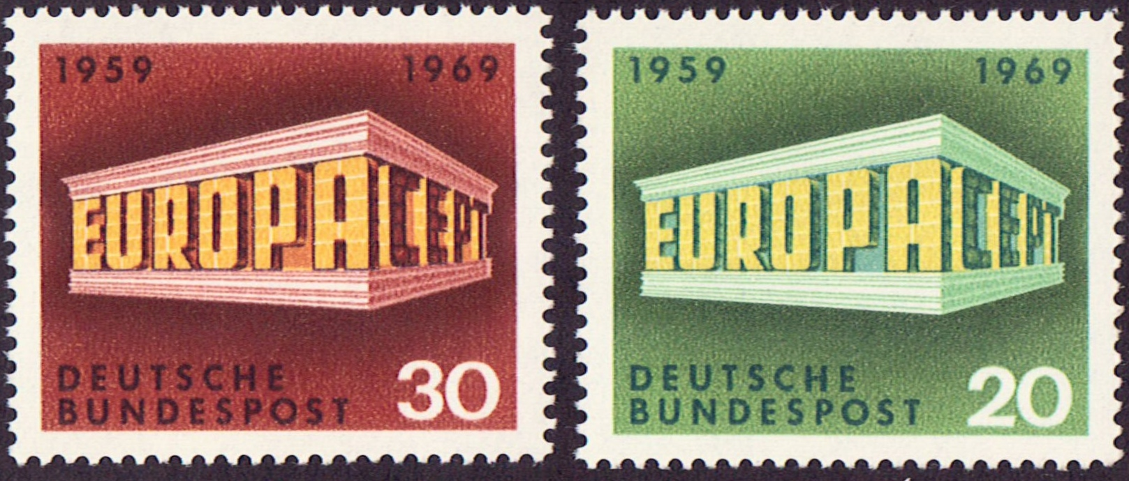 Germany Scott 0996-0997, MNH, Europa 1969, set of 2