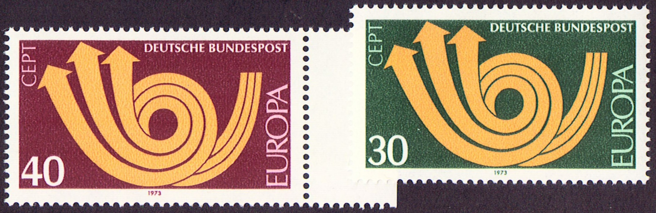 Germany Scott 1114-1115, MNH, Europa, 1973, a set of 2 stamps
