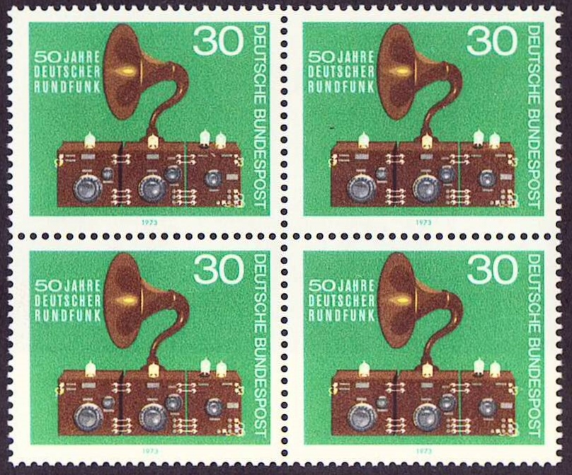 Germany Scott 1127, MNH, Block of 4, BL4, 50th anniversary of Br