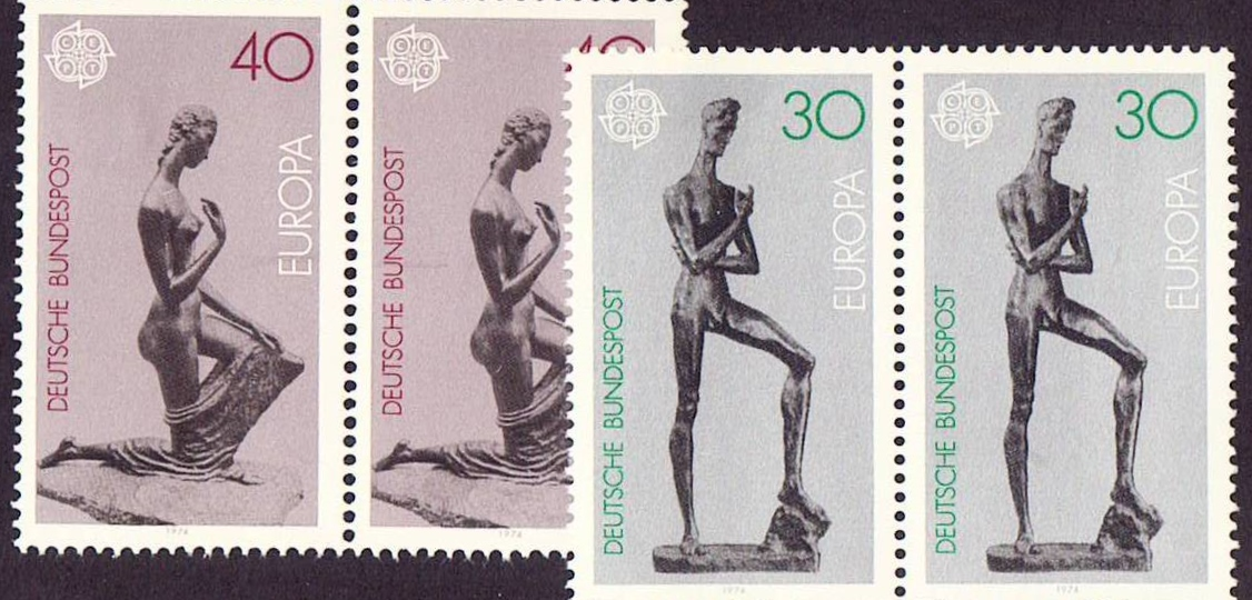 Germany Scott 1141-42, MNH, Pair, 1974 Europa, 2 sets of 2 stamp