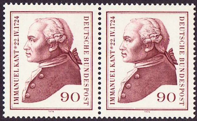 Germany Scott 1144, MNH, Pair, Immanuel Kant, 1724