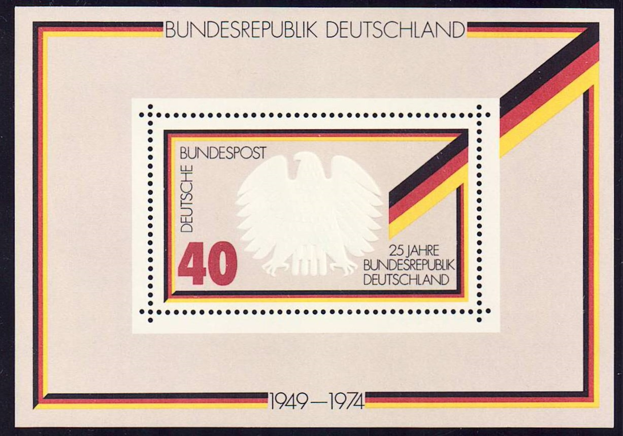 Germany Scott 1145, MNH, 25th Anniversary large Souvenir Sheet