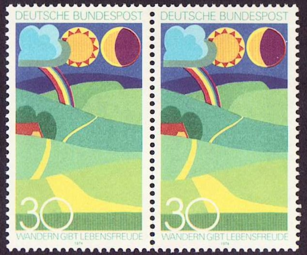 Germany Scott 1149, MNH, Pair, Landscape