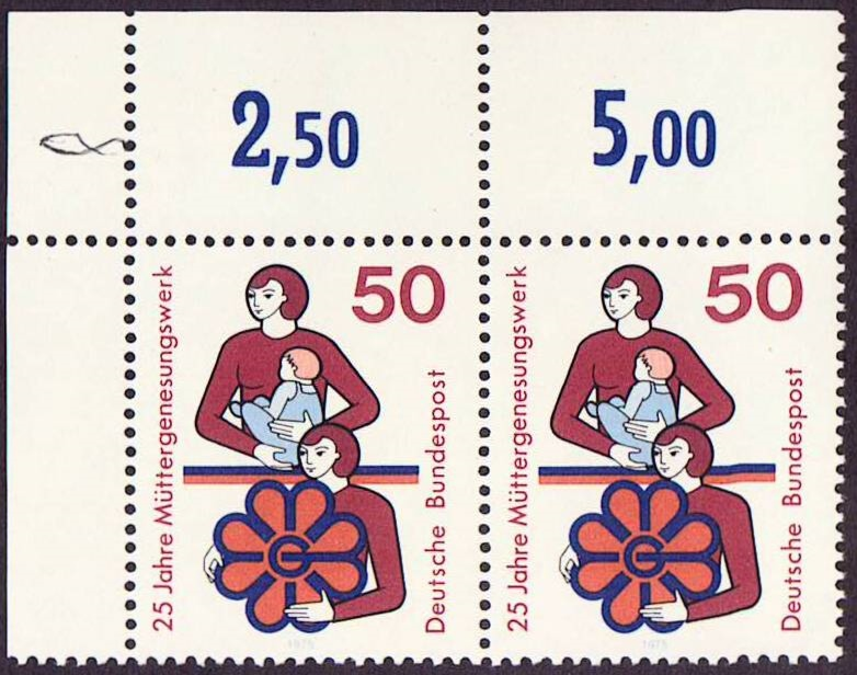 Germany Scott 1154, MNH, Pair, Mothers and Foundation Emblem