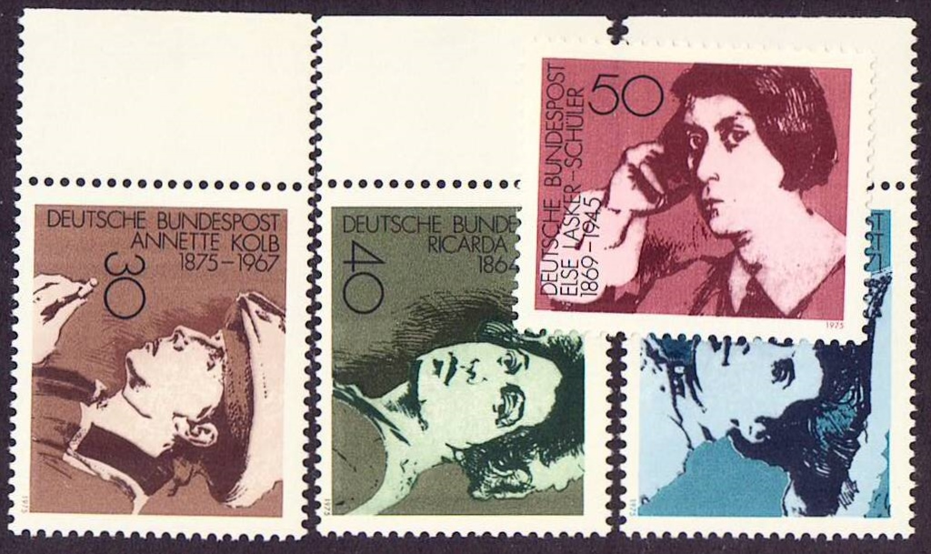 Germany Scott 1155-1158, MNH, Famous woman authors Annette Kolb,