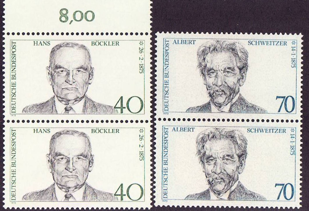 Germany Scott 1159-1160, MNH, Pair, Albert Schweitzer, Hans Bock