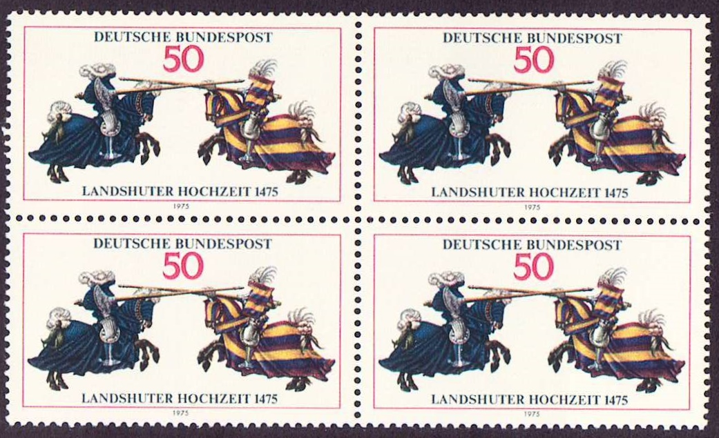 Germany Scott 1167, MNH, Block of 4, BL4, Wedding of Landshut, J