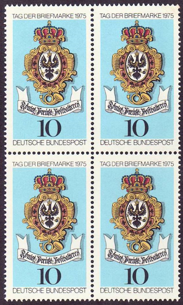 Germany Scott 1202, MNH, BL4, Sign of Royal Prussian Post,