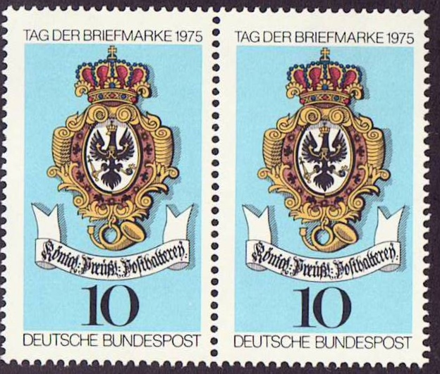 Germany Scott 1202, MNH, Pair, Sign of Royal Prussian Post,