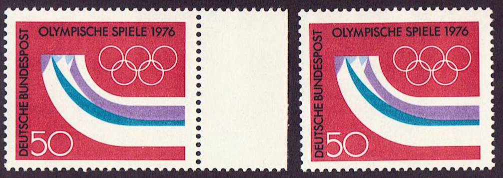 Germany Scott 1204, MNH, Pair, Innsbruck, Austria Olympic Games,