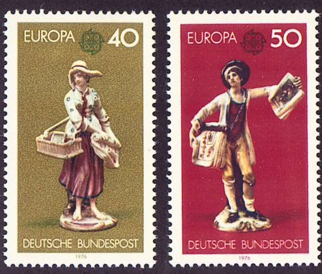 Germany Scott 1211-1212, MNH, Europa 1976, set of 2