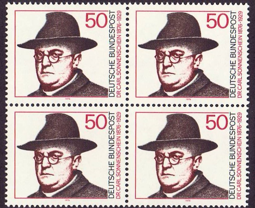 Germany Scott 1213, MNH, Block of 4, BL4, Dr. Carl Sonnenschein,