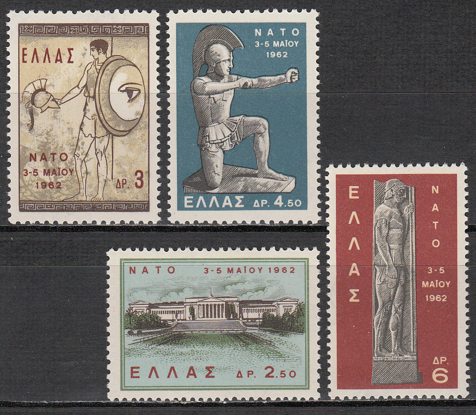 Greece Scott 0735-738, MNH, NATO complete set of 4