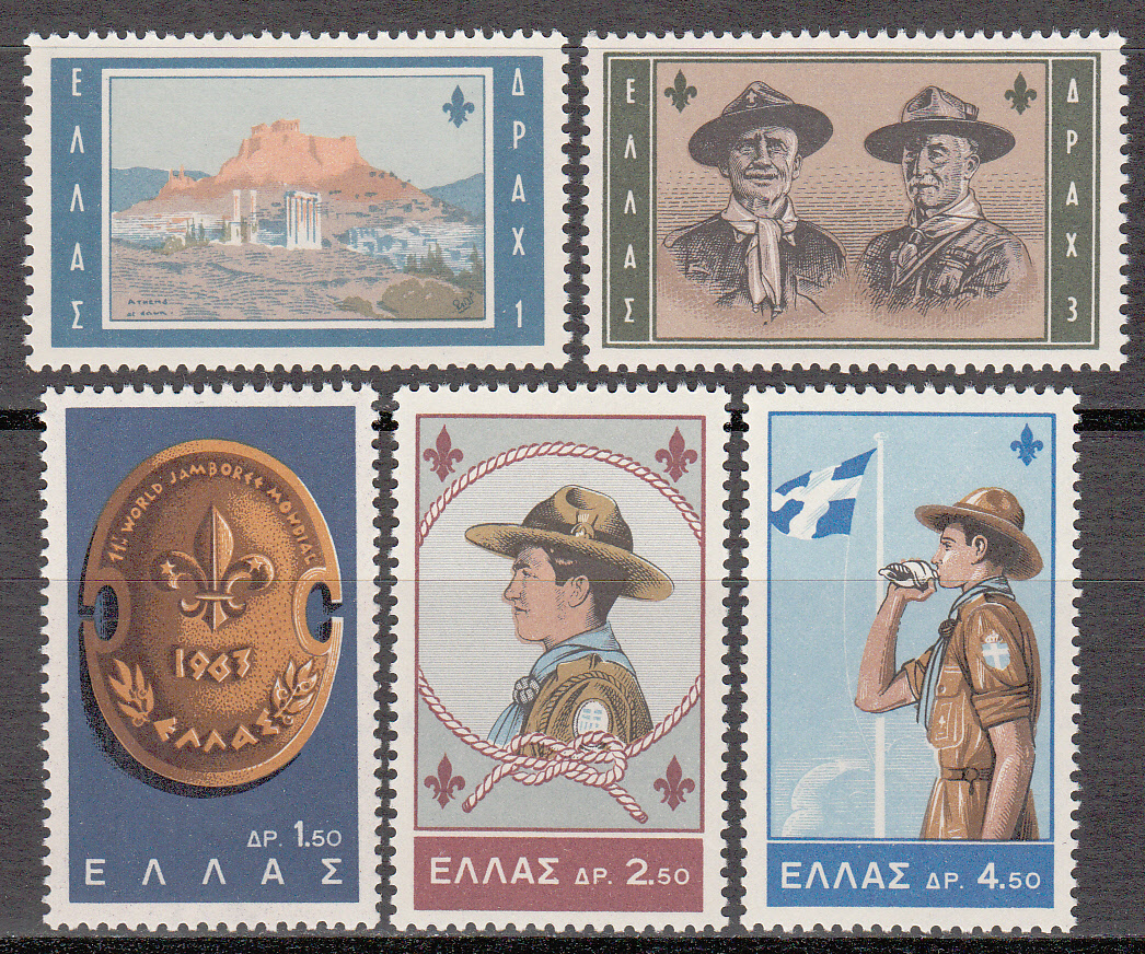 Greece Scott 0759-763, MNH, boy Scout Jamboree, complete set of