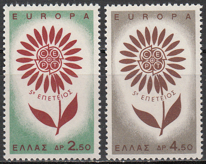 Greece Scott 0801-802, MNH, Europa 1964, set of 2