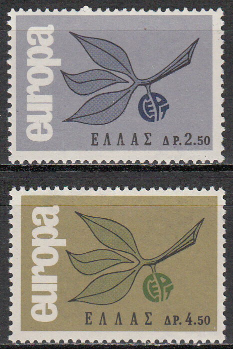 Greece Scott 0833-834, MNH, Europa 1965, set of 2