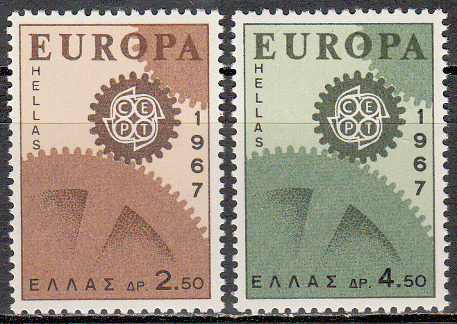 Greece Scott 0891-893, MNH, Europa 1967, set of